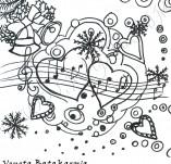 25/329/Дизайнерски печати и надписи за картички-Нова Година-Празнична музика