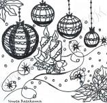 25/331/Дизайнерски печати и надписи за картички-Нова Година-Бляскава нощ