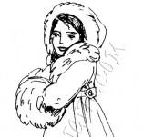 20/334/Дизайнерски печати и надписи за картички-Деца-Момиче с кънки
