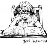20/335/Дизайнерски печати и надписи за картички-Деца-Момиче с книжка