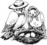 33/338/Дизайнерски печати и надписи за картички-Птици-Гнездо