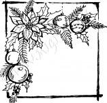 25/347/Дизайнерски печати и надписи за картички-Нова Година-Коледна звезда