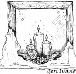25/381/Дизайнерски печати и надписи за картички-Нова Година-Топлина в нощта
