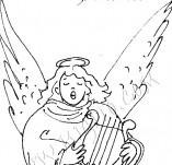 25/383/Дизайнерски печати и надписи за картички-Нова Година-Ангел
