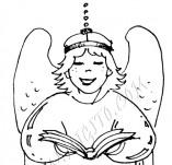 25/384/Дизайнерски печати и надписи за картички-Нова Година-Ангелче 3