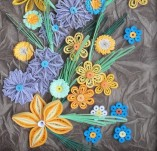15/397/Panels-Panels with quilling-Flower in frame