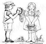 21/404/Дизайнерски печати и надписи за картички-Романтика-Поля