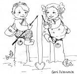 21/405/Дизайнерски печати и надписи за картички-Романтика-Ще те хвана