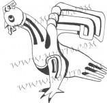 74/442/Дизайнерски печати и надписи за картички-Стилизирани-Птица печат
