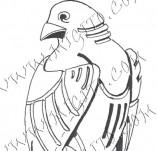 74/443/Дизайнерски печати и надписи за картички-Стилизирани-Орел печат