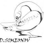 74/444/Дизайнерски печати и надписи за картички-Стилизирани-Патица печат