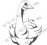 74/445/Design stamps and inscriptions-Stylized-duck 2