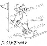 74/449/Design stamps and inscriptions-Stylized-Skis