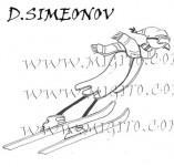 74/450/Дизайнерски печати и надписи за картички-Стилизирани-Ски 2