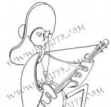 74/459/Дизайнерски печати и надписи за картички-Стилизирани-Соле мио печат