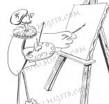 74/460/Дизайнерски печати и надписи за картички-Стилизирани-Ще те нарисувам печат