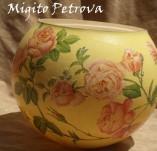 87/516/Декупаж-Вази-Кръгла ваза с рози