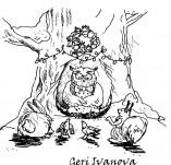 25/562/Дизайнерски печати и надписи за картички-Нова Година-Горска Нова година