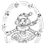 20/565/Дизайнерски печати и надписи за картички-Деца-Момиче с кънки 2