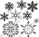 95/567/Дизайнерски печати и надписи за картички-Снежинки-Печати на снежинки 2