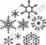 95/568/Дизайнерски печати и надписи за картички-Снежинки-Печат на снежинки 3