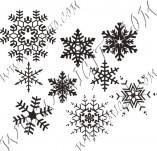 95/570/Дизайнерски печати и надписи за картички-Снежинки-Пеечати на снежинки 6