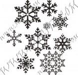 95/571/Дизайнерски печати и надписи за картички-Снежинки-Печати на снежинки 7