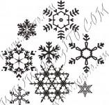 95/572/Дизайнерски печати и надписи за картички-Снежинки-Печати на снежинки 8