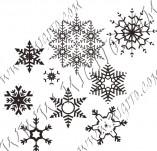 95/573/Дизайнерски печати и надписи за картички-Снежинки-Печат на снежинки 4