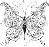 96/574/Дизайнерски печати и надписи за картички-Пеперуди-Печат на пеперуда 1