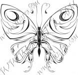 96/575/Дизайнерски печати и надписи за картички-Пеперуди-Печат на пеперуда 2