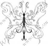 96/576/Дизайнерски печати и надписи за картички-Пеперуди-Печат на пеперуда 3