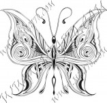 96/577/Дизайнерски печати и надписи за картички-Пеперуди-Печат на пеперуда 4