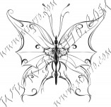 96/579/Дизайнерски печати и надписи за картички-Пеперуди-Печат на пеперуда 6