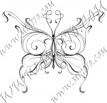 96/580/Дизайнерски печати и надписи за картички-Пеперуди-Печат на пеперуда 7