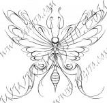 96/582/Дизайнерски печати и надписи за картички-Пеперуди-Печат на пеперуда 9