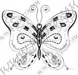 96/586/Дизайнерски печати и надписи за картички-Пеперуди-Печат на пеперуда 13