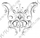 96/591/Дизайнерски печати и надписи за картички-Пеперуди-Печат на пеперуда 18