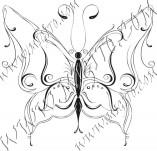 96/592/Дизайнерски печати и надписи за картички-Пеперуди-Печат на пеперуда 19