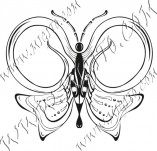 96/594/Дизайнерски печати и надписи за картички-Пеперуди-Печат на пеперуда 21