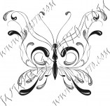96/595/Дизайнерски печати и надписи за картички-Пеперуди-Печат на пеперуда 22
