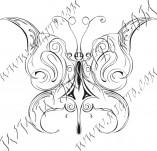 96/596/Дизайнерски печати и надписи за картички-Пеперуди-Печат на пеперуда 23