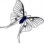 96/598/Дизайнерски печати и надписи за картички-Пеперуди-Печат на пеперудка 2