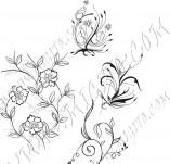 91/600/Дизайнерски печати и надписи за картички-Направи си картина-Малки цветя декоративни