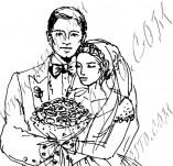 21/607/Дизайнерски печати и надписи за картички-Романтика-Сватба 1