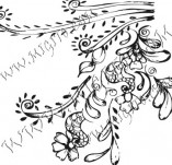 61/614/Дизайнерски печати и надписи за картички-Флорални елементи-6