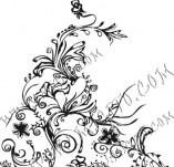 61/617/Дизайнерски печати и надписи за картички-Флорални елементи-9
