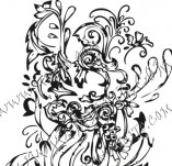 61/619/Дизайнерски печати и надписи за картички-Флорални елементи-11