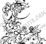 61/622/Дизайнерски печати и надписи за картички-Флорални елементи-14