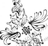 61/624/Дизайнерски печати и надписи за картички-Флорални елементи-16